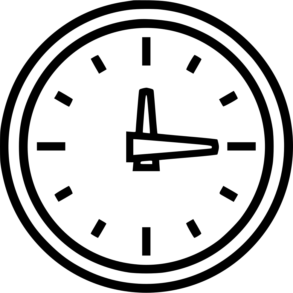 Wall Clock Svg Png Icon Free Download (#533450 ...