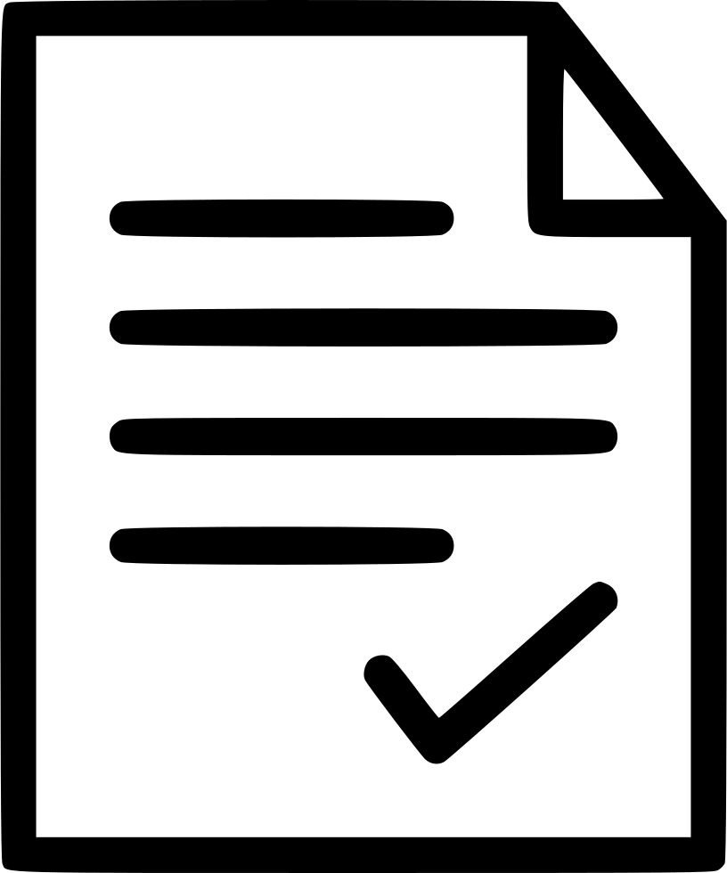 document check correct tick select okay paper svg png icon free