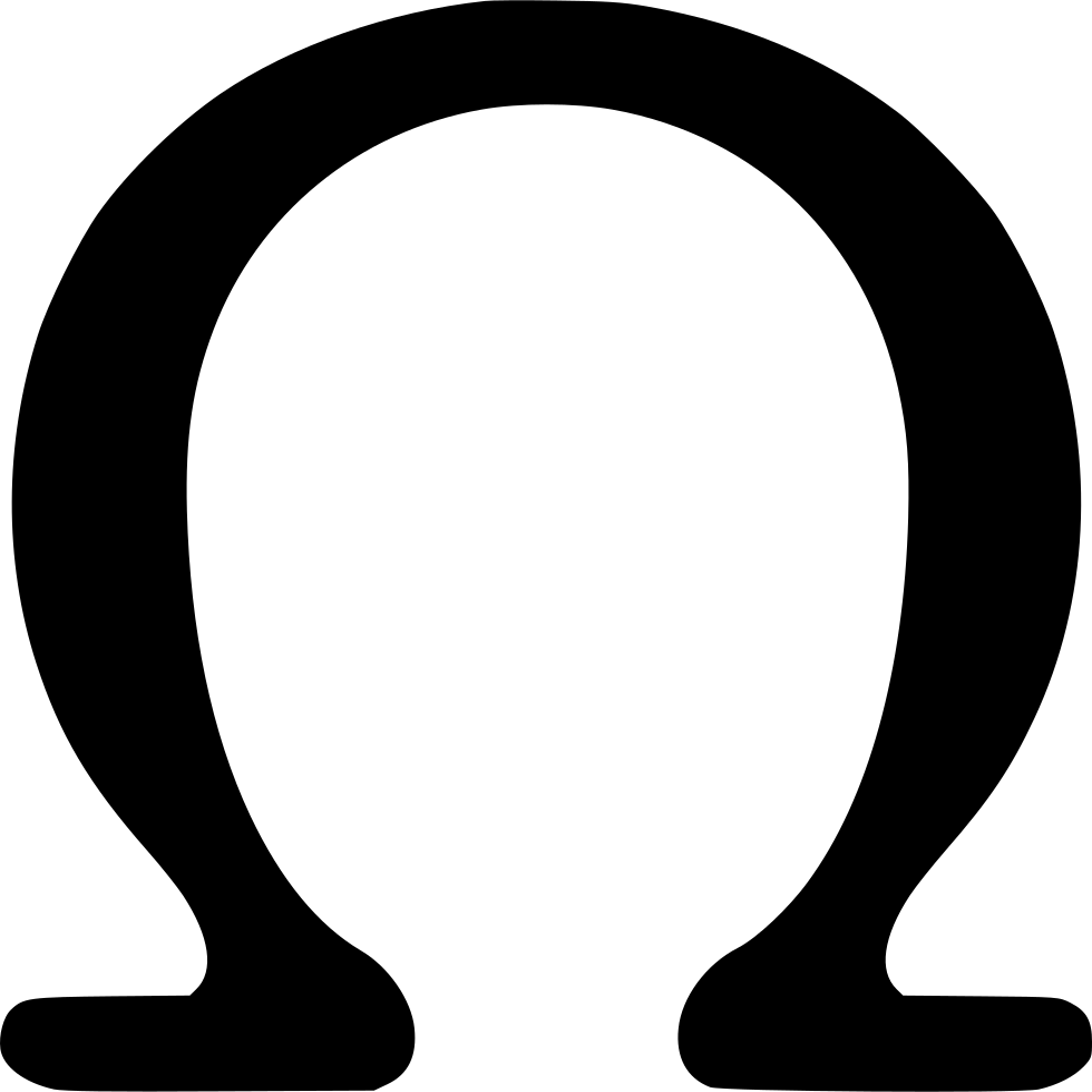 Omega Greek Alphabet Letter Svg Png Icon Free Download