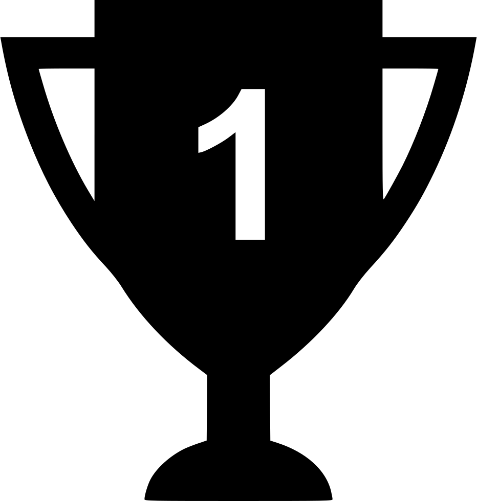Award Number One Trophy Recognition Top Svg Png Icon Free