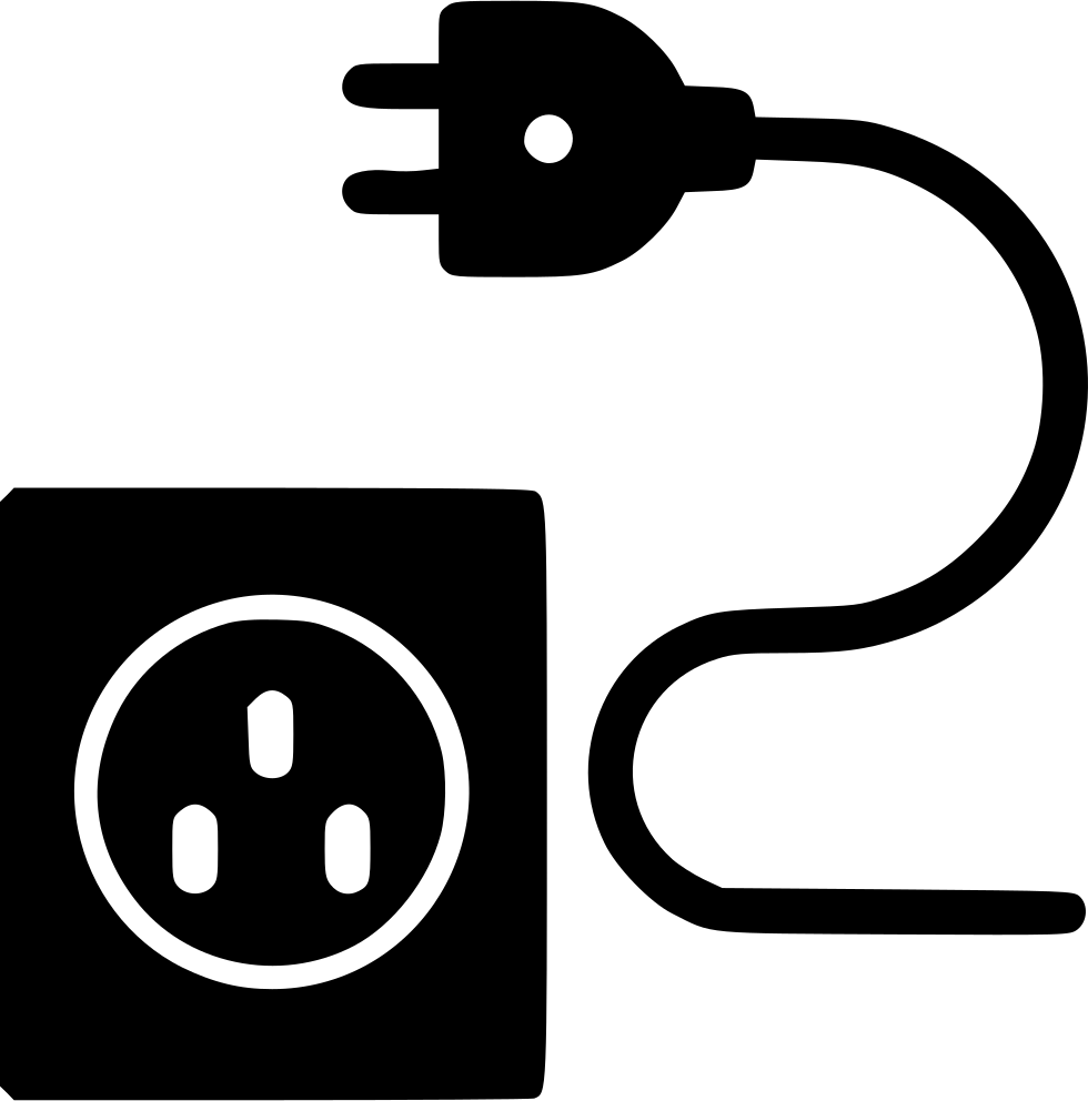wire and plug svg png icon free download 536260. Black Bedroom Furniture Sets. Home Design Ideas