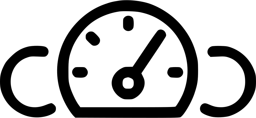 Gauge Car Dashboard Speedometer Odometer Speed Svg Png Icon