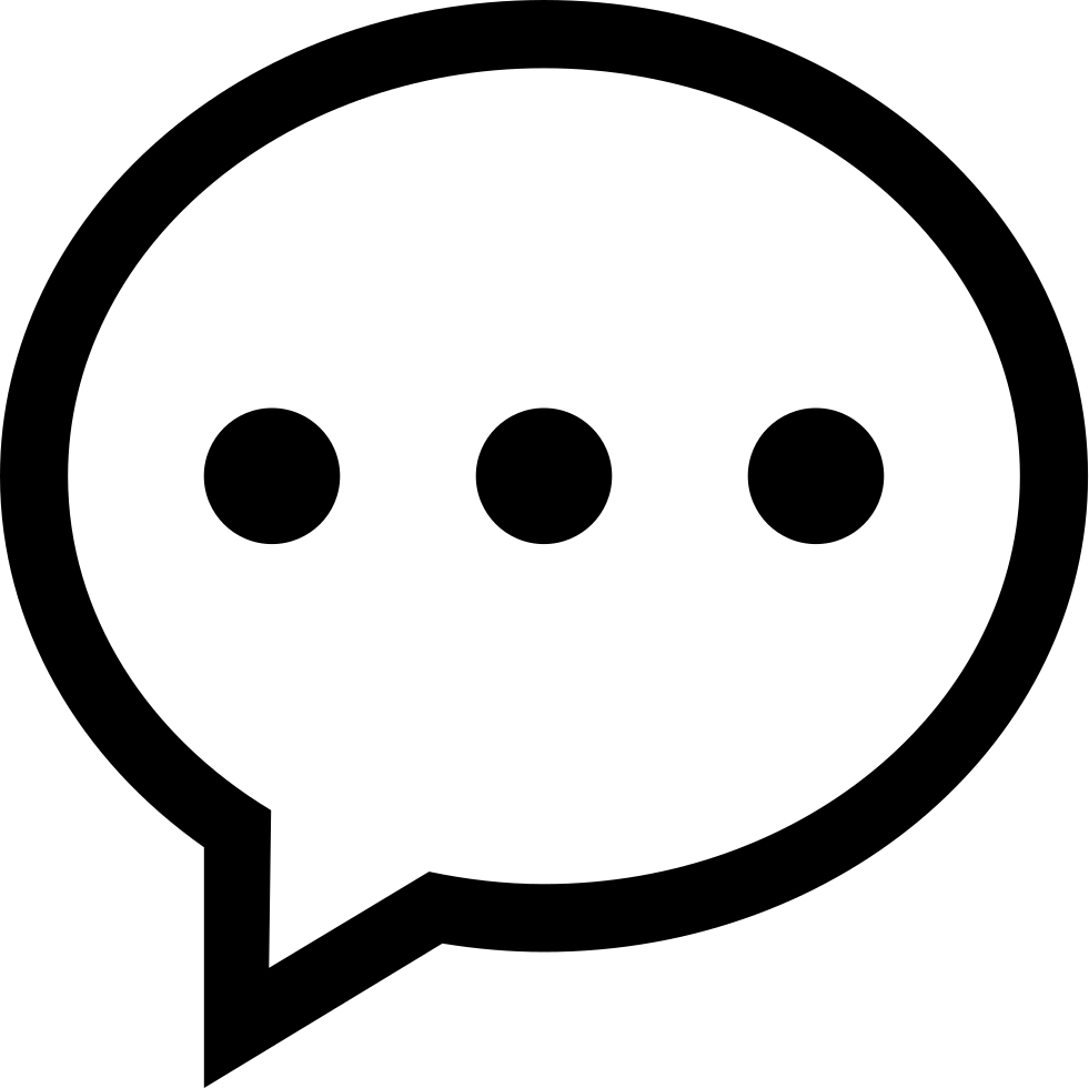 Speech bubble oval symbol with three dots svg png icon free speech bubble oval symbol with three dots comments biocorpaavc