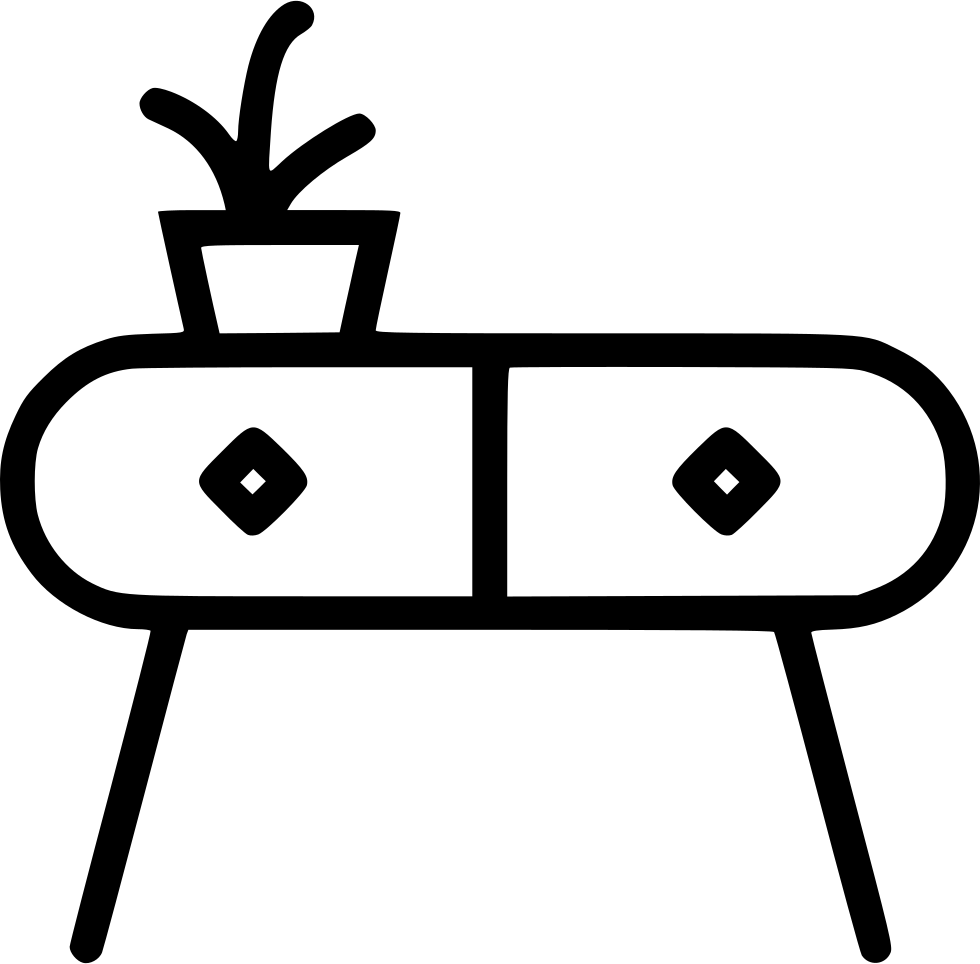 Table Small Plant Flower Decoration Furniture Svg Png Icon Free