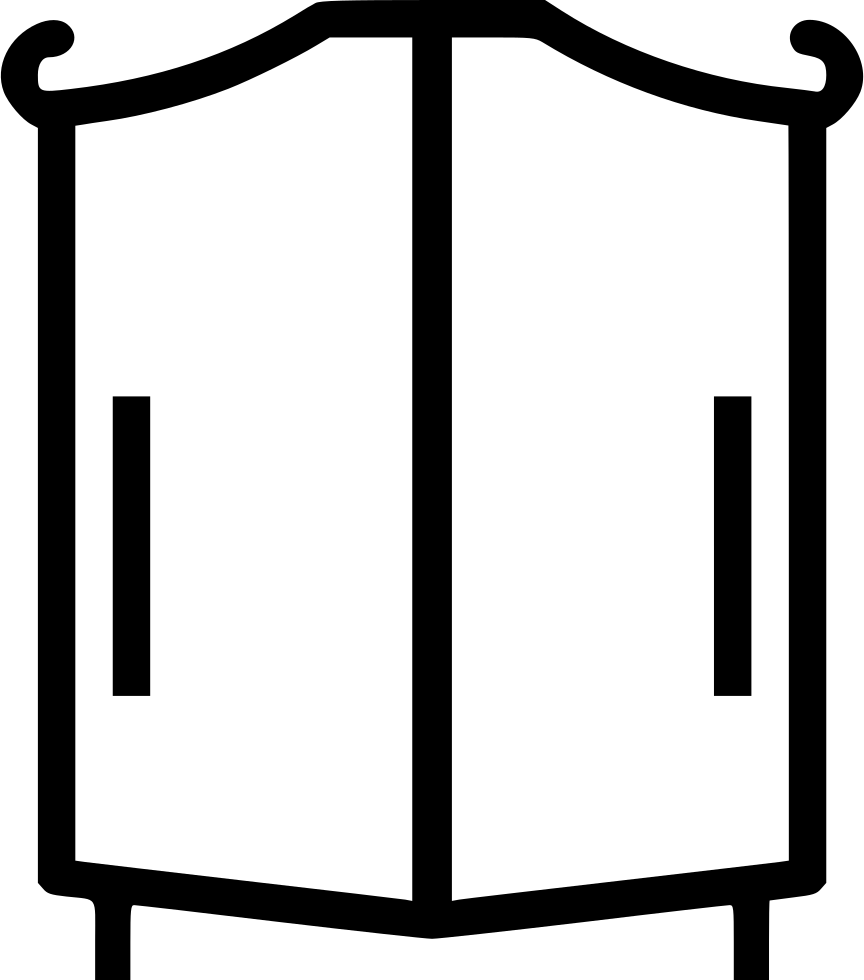 Wardrobe cabinet clothes furniture closet svg png icon for Closet icon