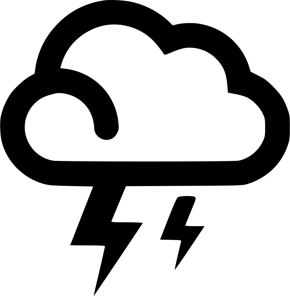 Cloud Lightning Strikes Mixed Svg Png Icon Free Download (#540138