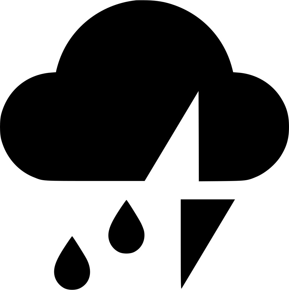 Cloud Rain Thunder Svg Png Icon Free Download (#541074