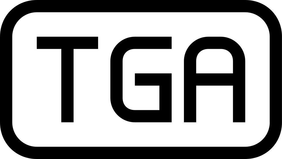 Tga File Type Symbol Of Rounded Rectangle Stroke Svg Png Icon Free