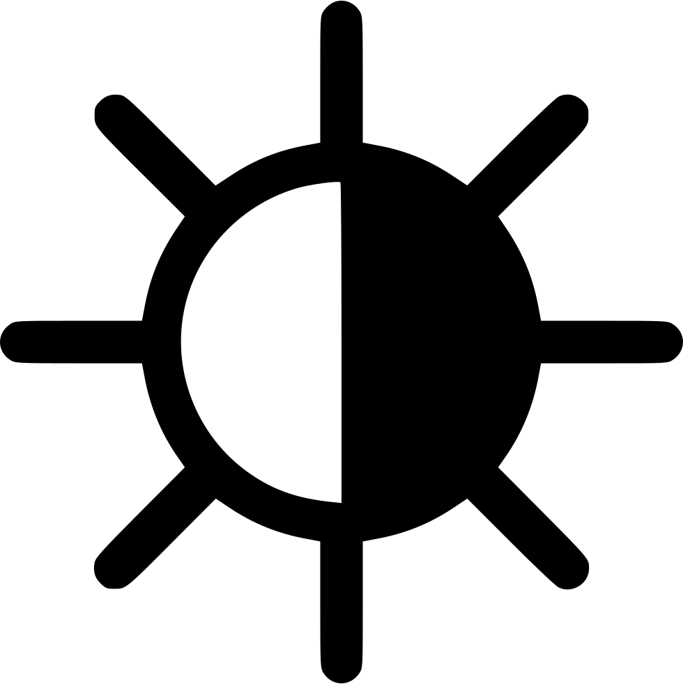 Half Black Sun Svg Png Icon Free Download 541463 Onlinewebfonts