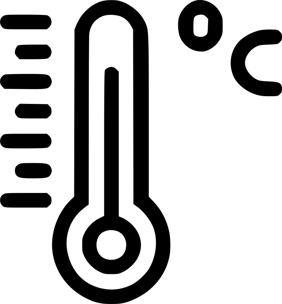 Temperature Thermometer Reading Celsius Centigrade Degree Svg Png