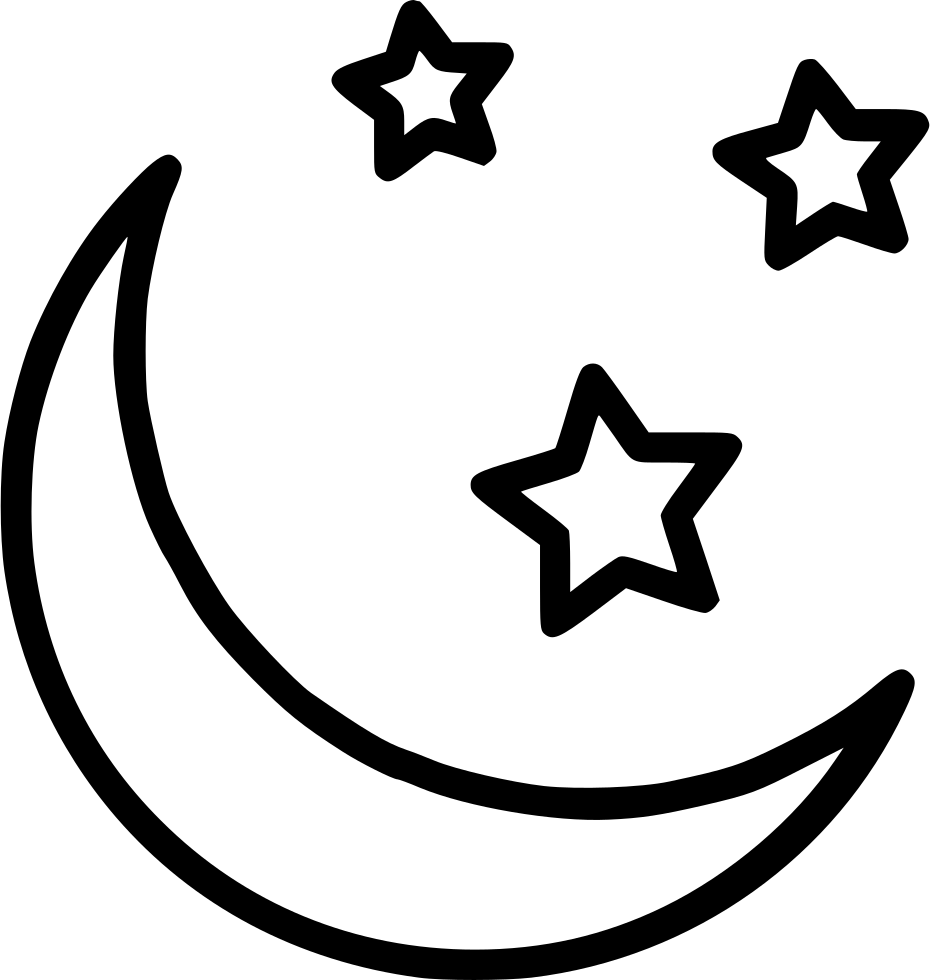 Half Moon Star Svg Png Icon Free Download 542337