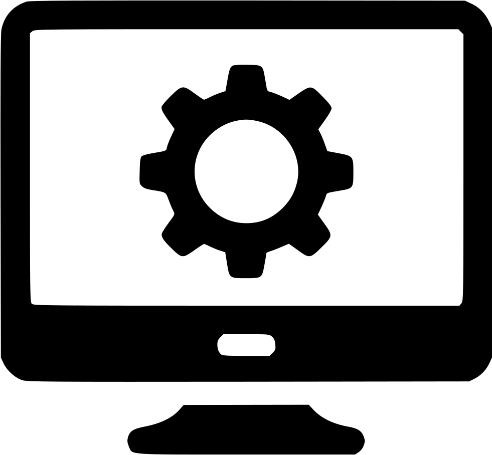 control computer cog gear pc monitor screen management svg best clipart software best clipart software