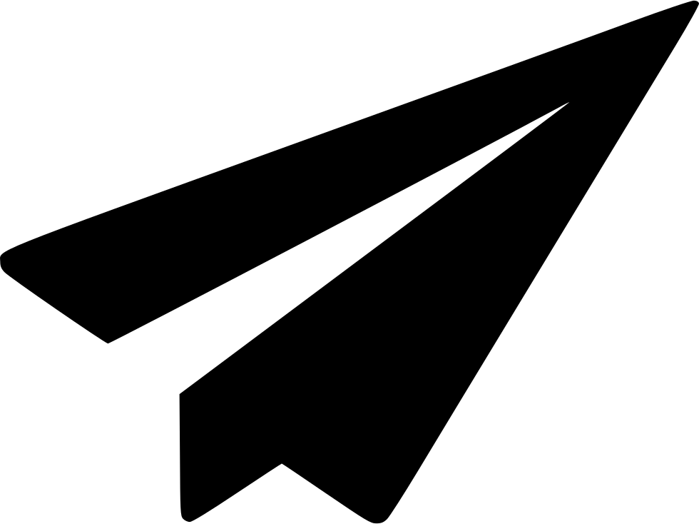 send paper plane message communication mail email svg png