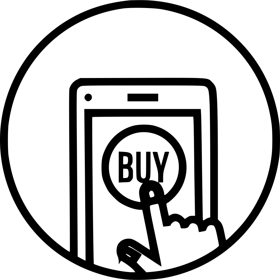 Buy Sell Icon: Mobile Online Store Shop Buy Sell Product Hand Gesture Svg