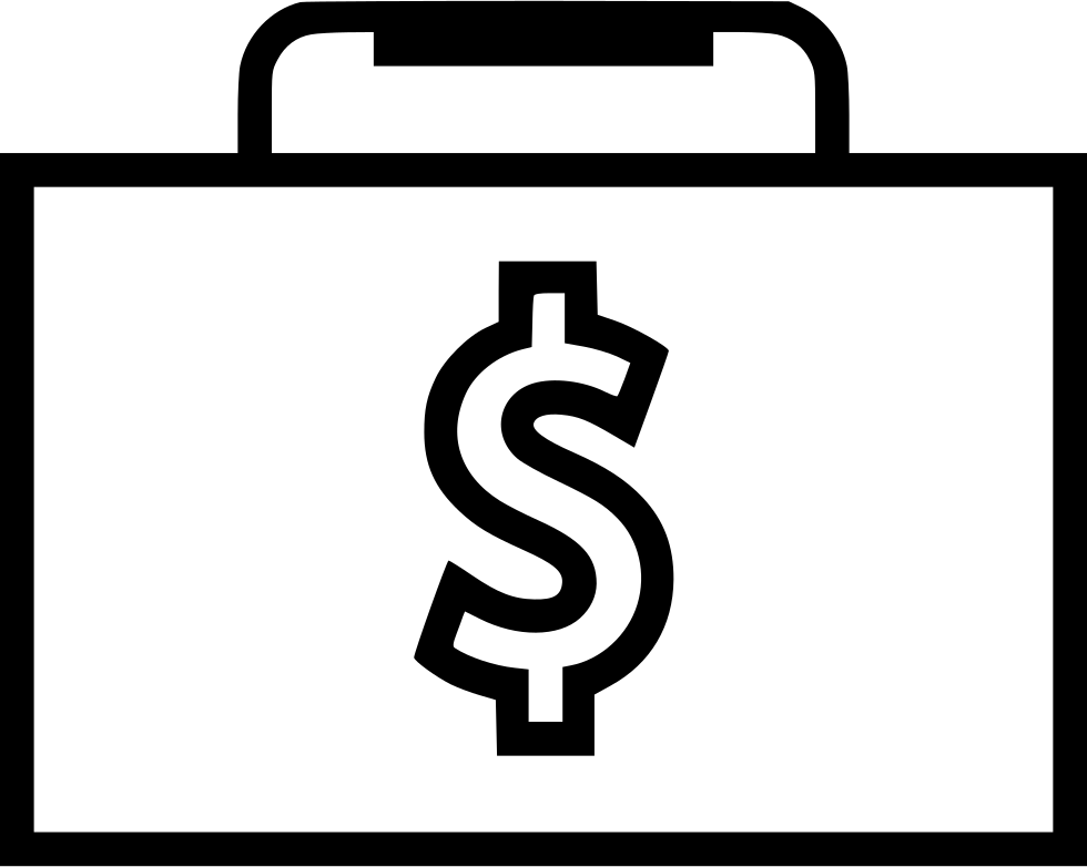 Briefcase Case Dollar Sign Money Business Web Svg Png Icon