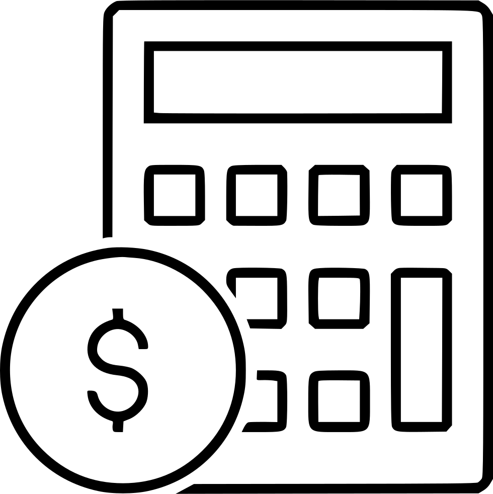 budget calculator svg png icon free download 544523