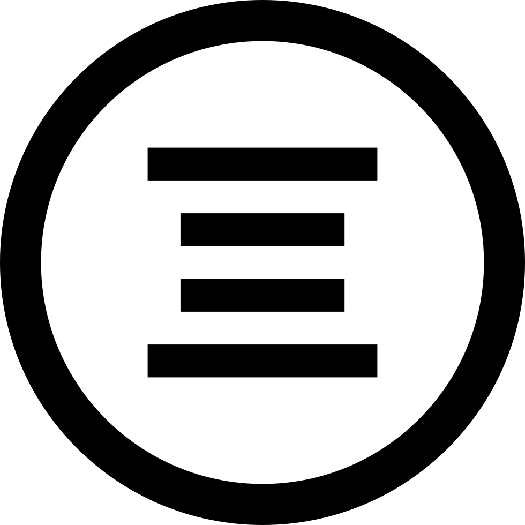 Text Center Alignment Circular Interface Button Svg Png Icon