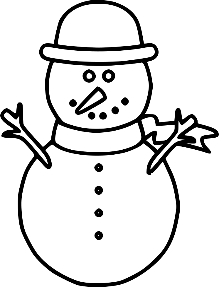Snowman Svg Png Icon Free Download (#550475