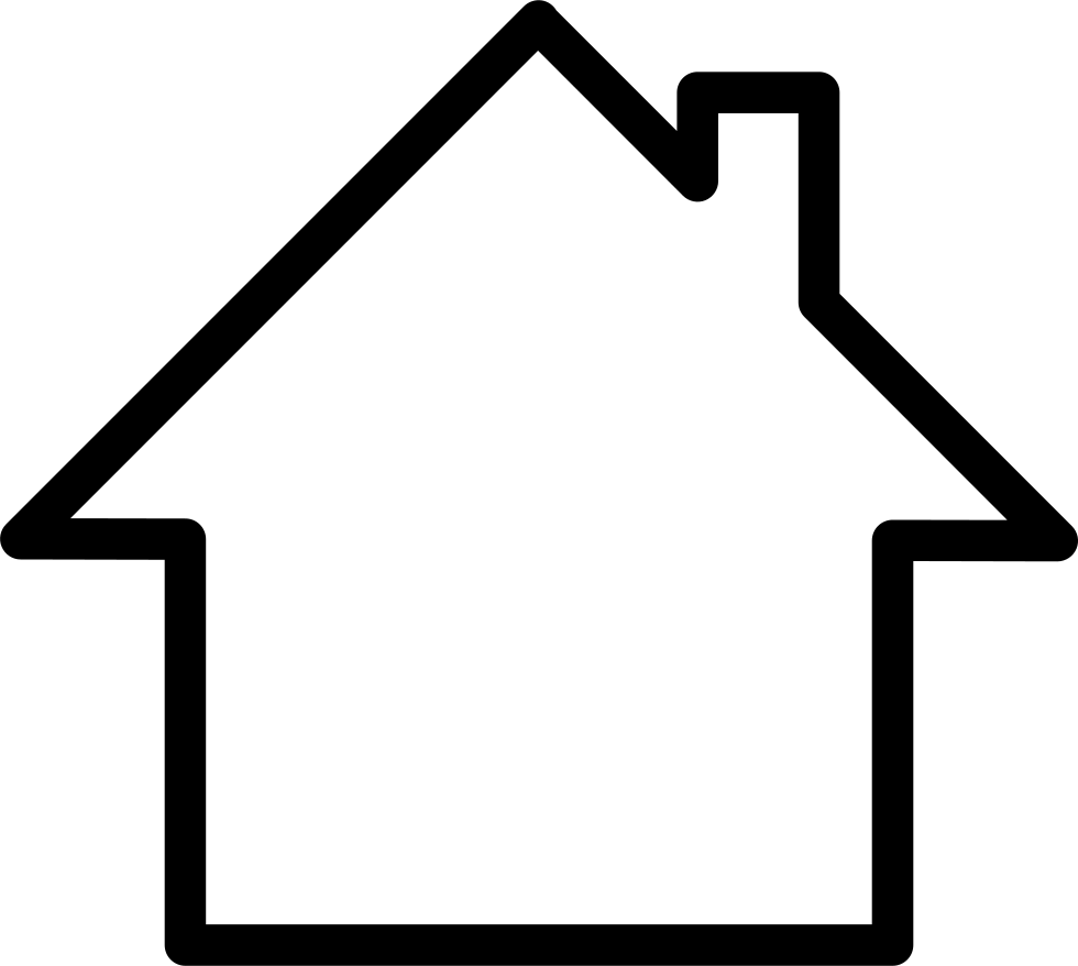 Line Art House Png : White home svg png icon free download