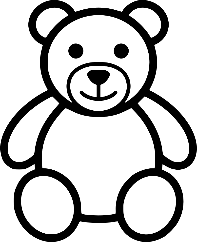 Soft Toys Clip Art : Teddy bear svg png icon free download