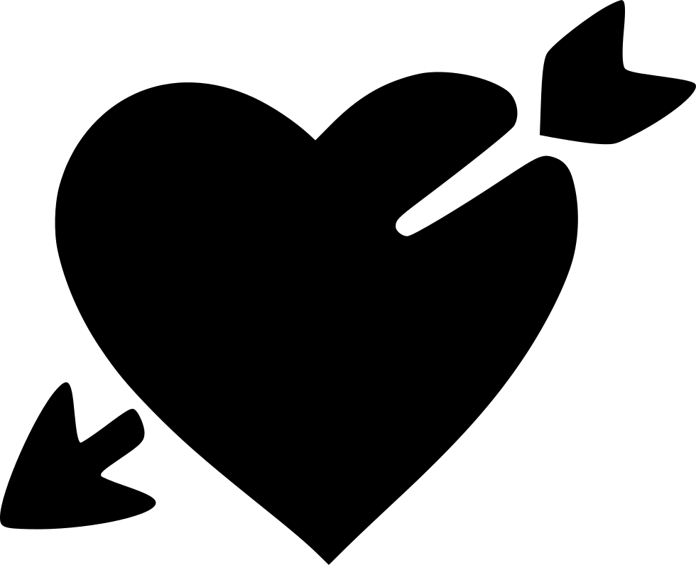 Love Heart Broken Valentine Day Arrow Cupid Svg Png Icon Free