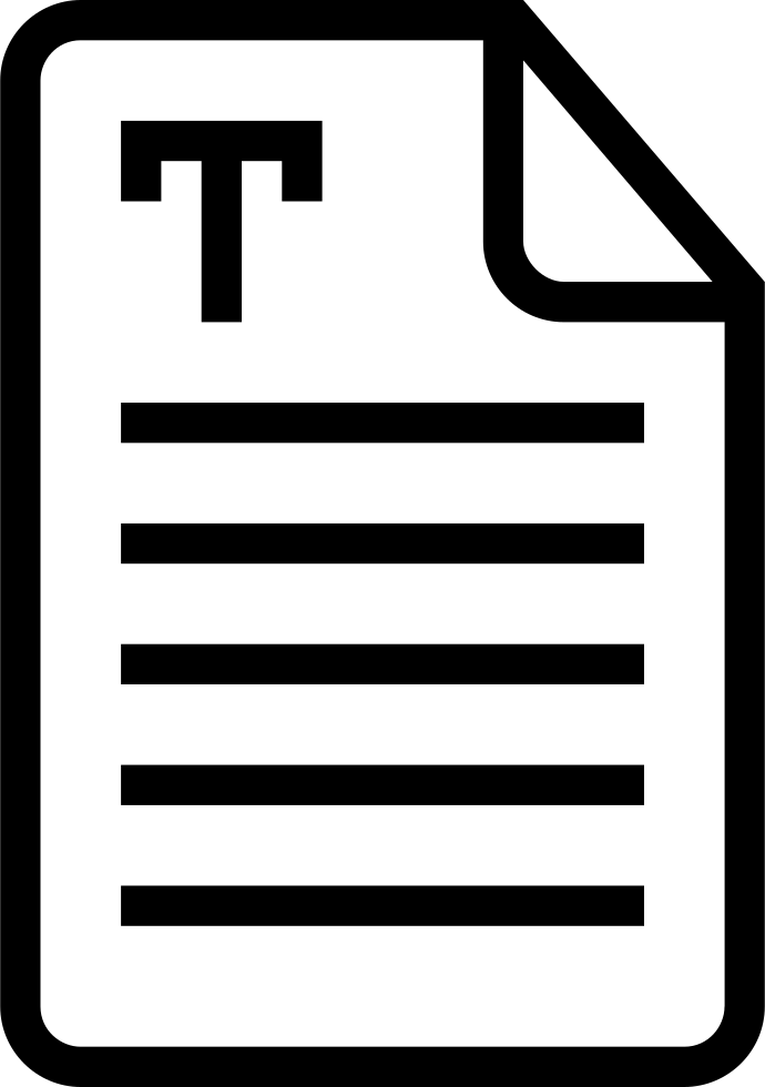 Text Document Interface Symbol Of Stroke With Lines Svg ...  Document Symbol