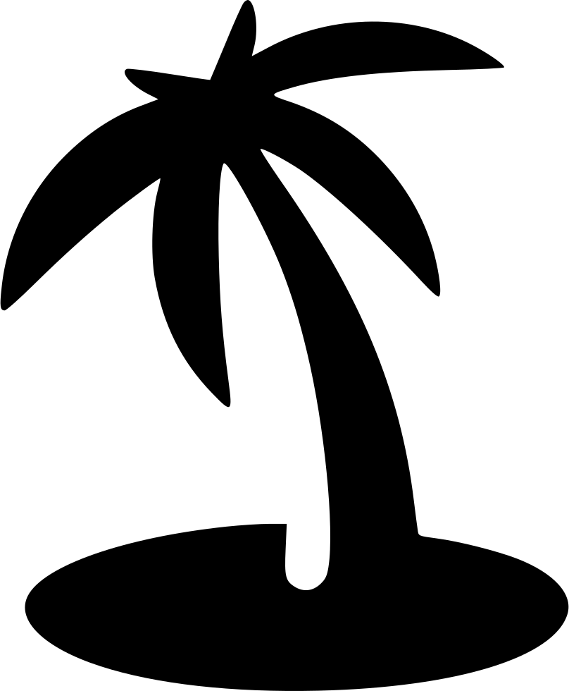 Beach Palm Island Svg Png Icon Free Download 556080