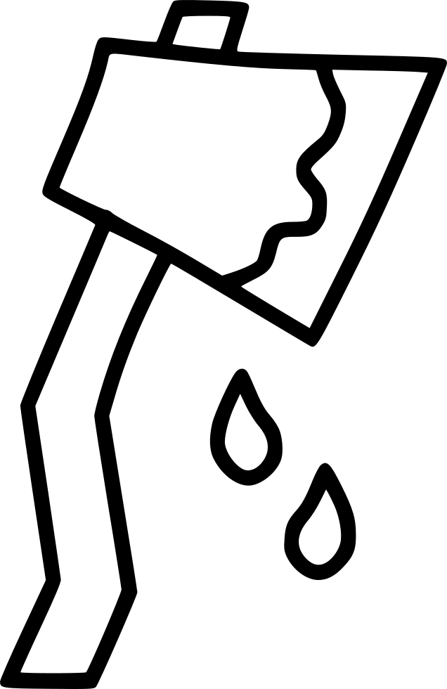 Axe Kill Blood Violence Horror Hatchet Svg Png Icon Free