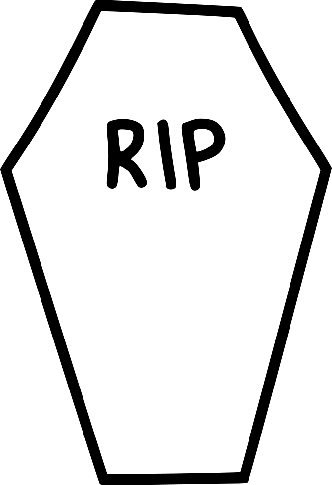 coffin casket rip death funeral svg png icon free download Cartoon Tombstone Rip Headstone