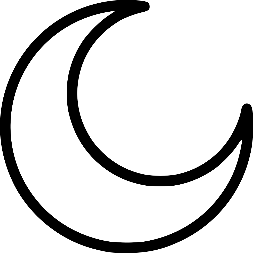 Line Drawing Moon : Half moon svg png icon free download