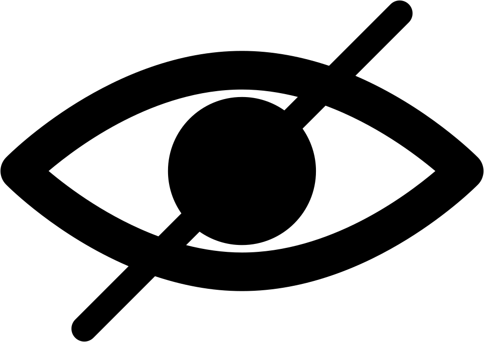 Blind Symbol Of An Opened Eye With A Slash Svg Png Icon ...