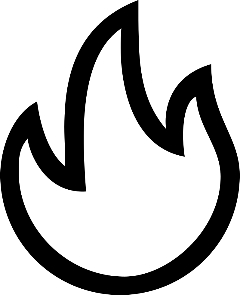 Good Hot Interface Symbol Of Fire Flames Outline Comments