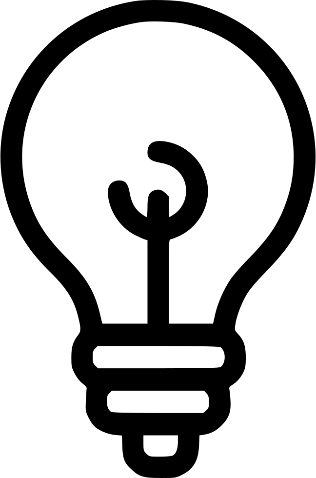 Creative Idea Bulb Light Lamp Svg Png Icon Free Download