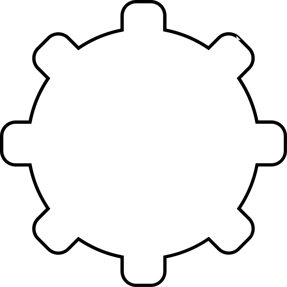 Configuration Gear Thin Outline Svg Png Icon Free Download (#56009 ...