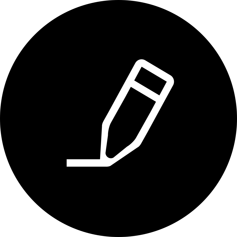 Pencil In Black Circular Interface Button Svg Png Icon Free