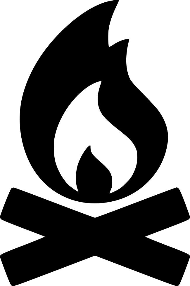 Campfire Fire Svg Png Icon Free Download (#561187 ... | 650 x 980 png 45kB