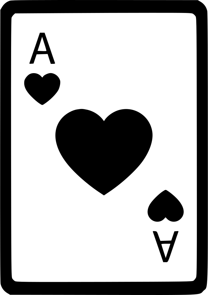 Ace of hearts card poker svg png icon free download (#561207.