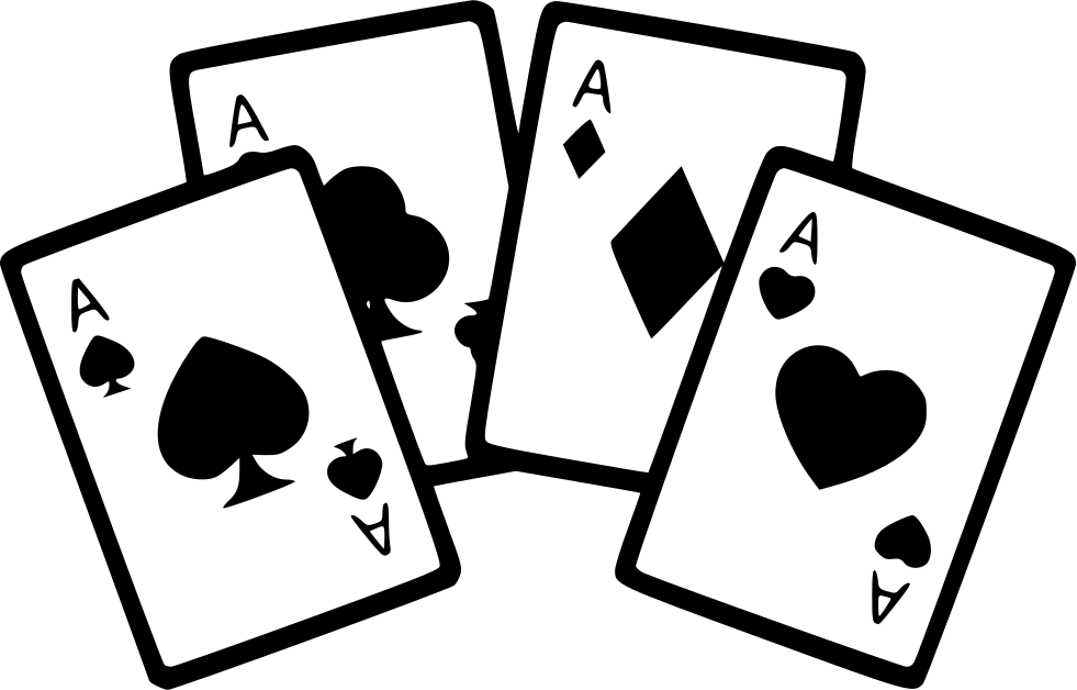 Four Aces Cards Poker Game Svg Png Icon Free Download