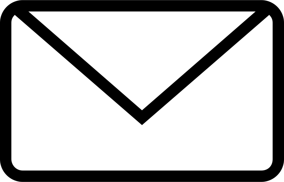 New Email Envelope Back Outlined Interface Symbol Svg Png