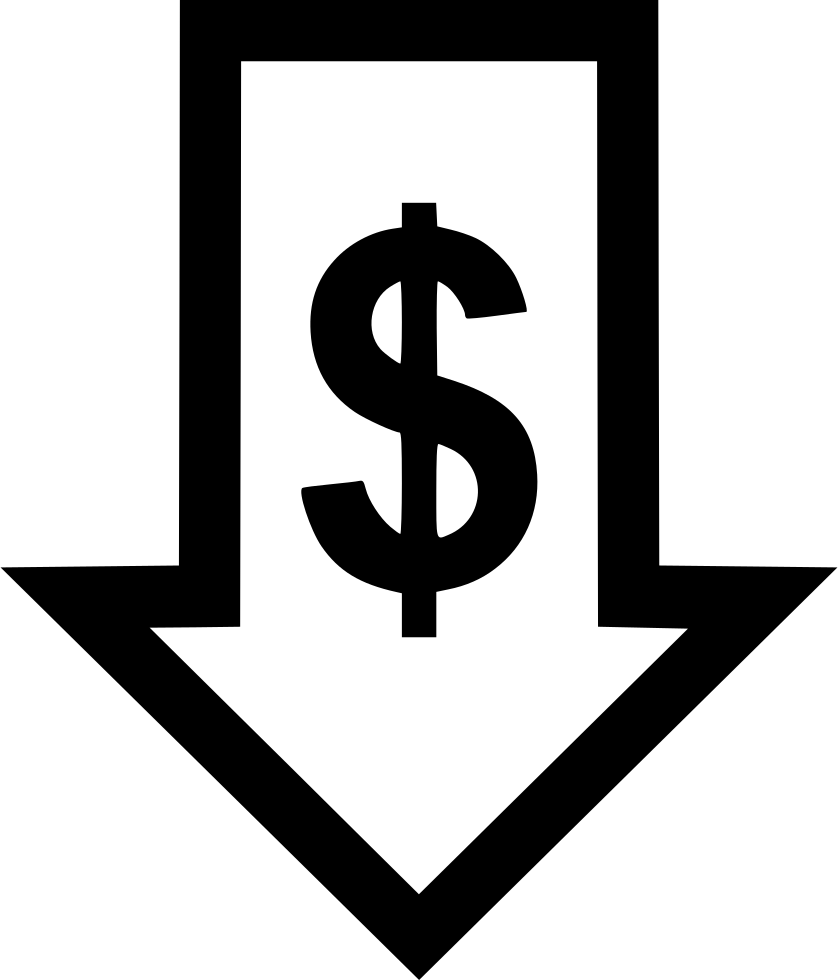arrow down money svg png icon free download 563339