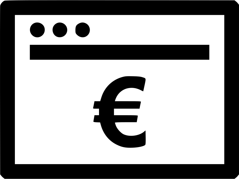 Browser Internet Euro Payment Pay Online Web Svg Png Icon Free