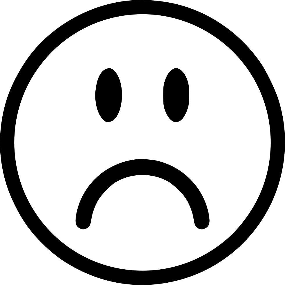 frown svg png icon free 565403