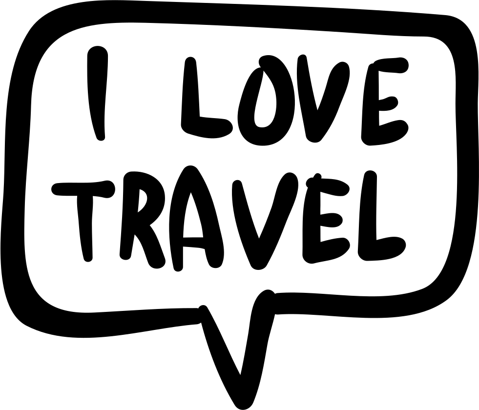I Love Travel In Handmade Speech Bubble Svg Png Icon Free