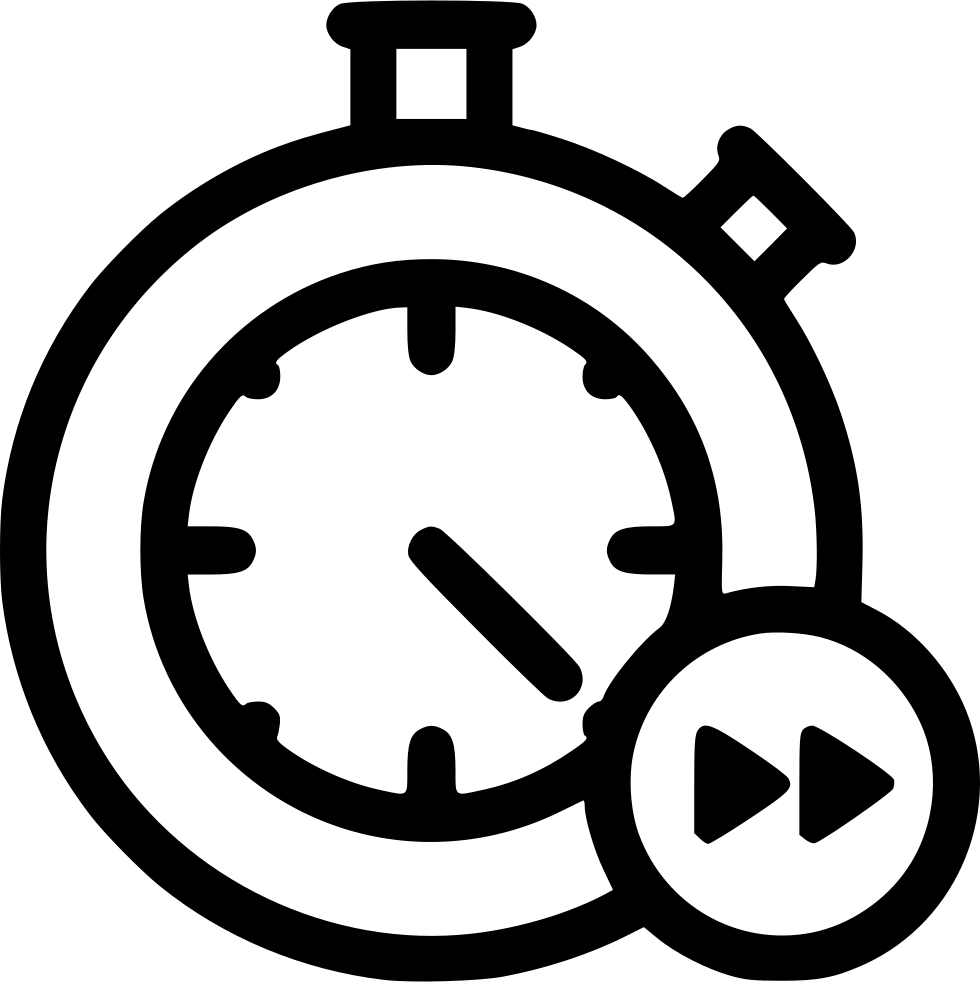 Stopwatch Clock Delivery Fast Speed Time Timer Svg Png Icon