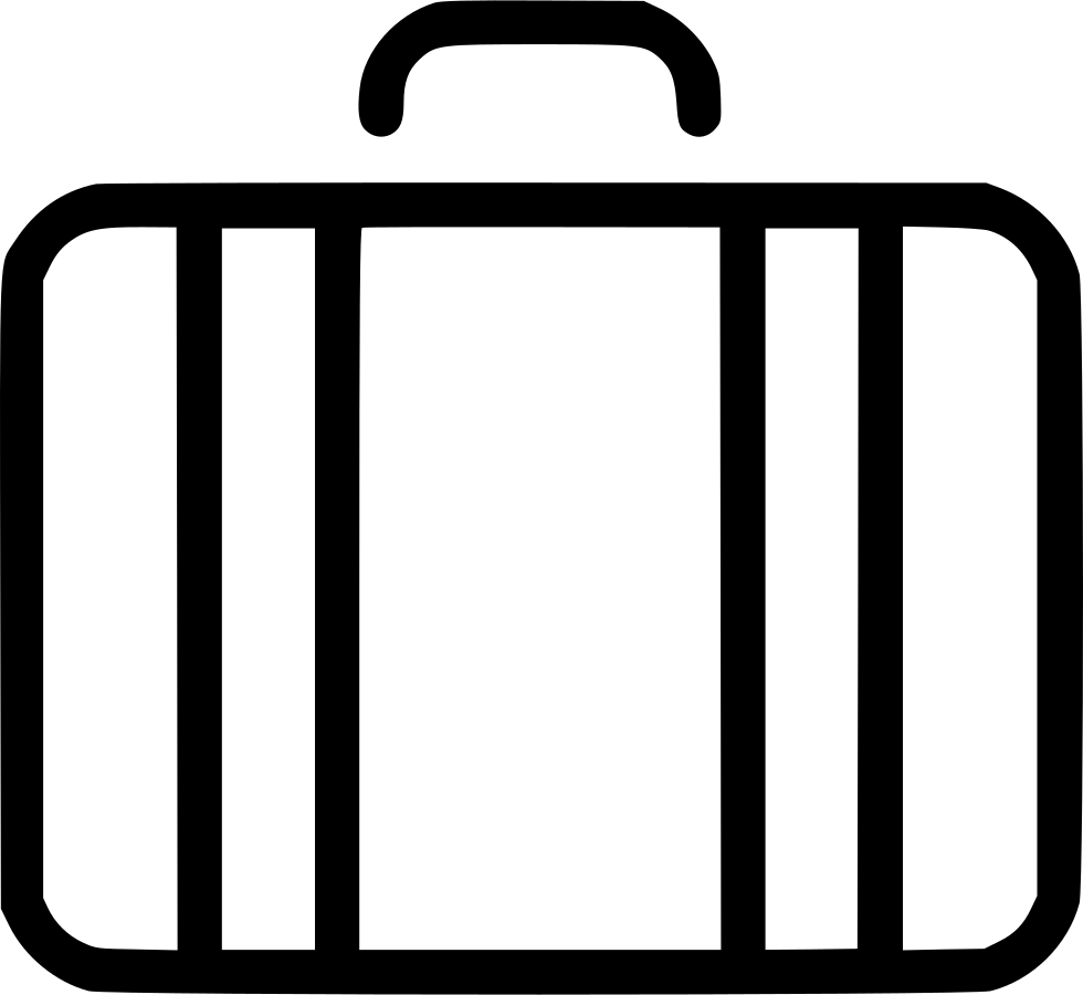 suitcase travel baggage luggage svg png icon free download