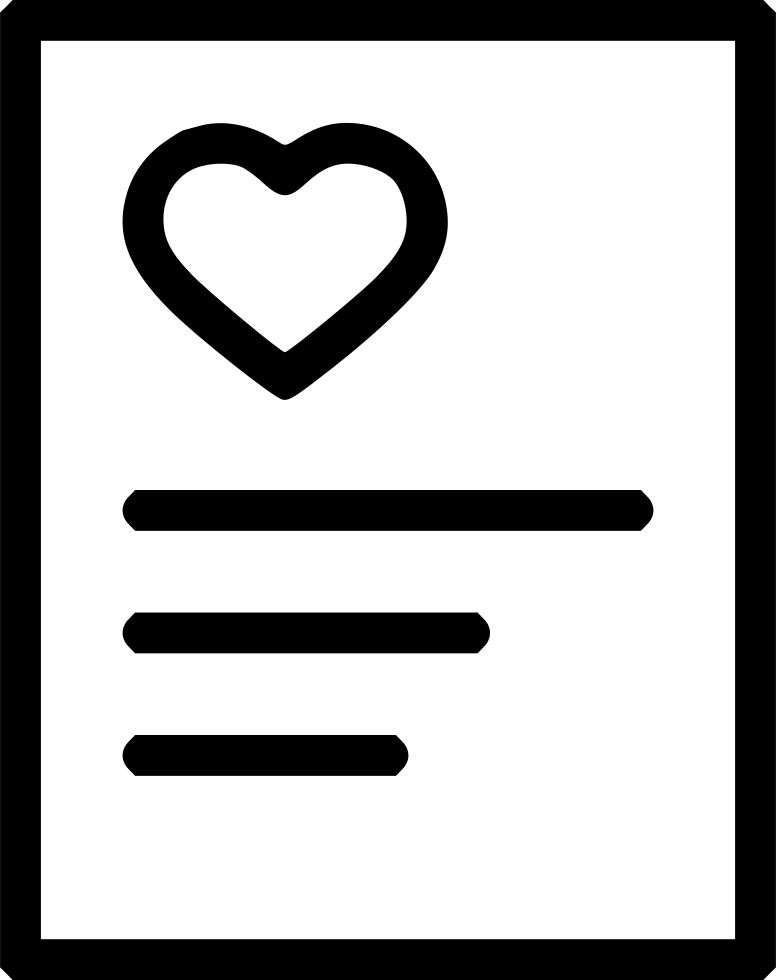 Romantic Valentine Day Letter Heart Poem Svg Png Icon Free