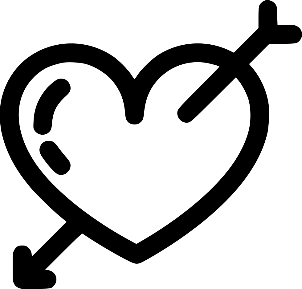 heart and arrow svg png icon free download 573076. Black Bedroom Furniture Sets. Home Design Ideas