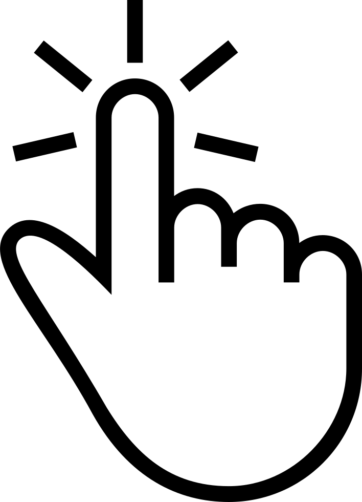 One Finger Tap Gesture Of Outlined Hand Symbol Svg Png Icon Free