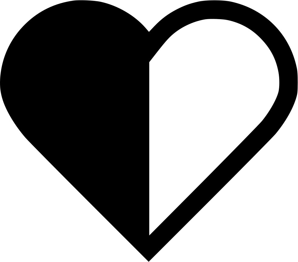 Heart Half Svg Png Icon Free Download 573946 Onlinewebfonts