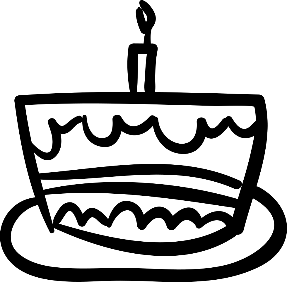 Birthday Cake Hand Drawn Celebration Food Svg Png Icon Free Download